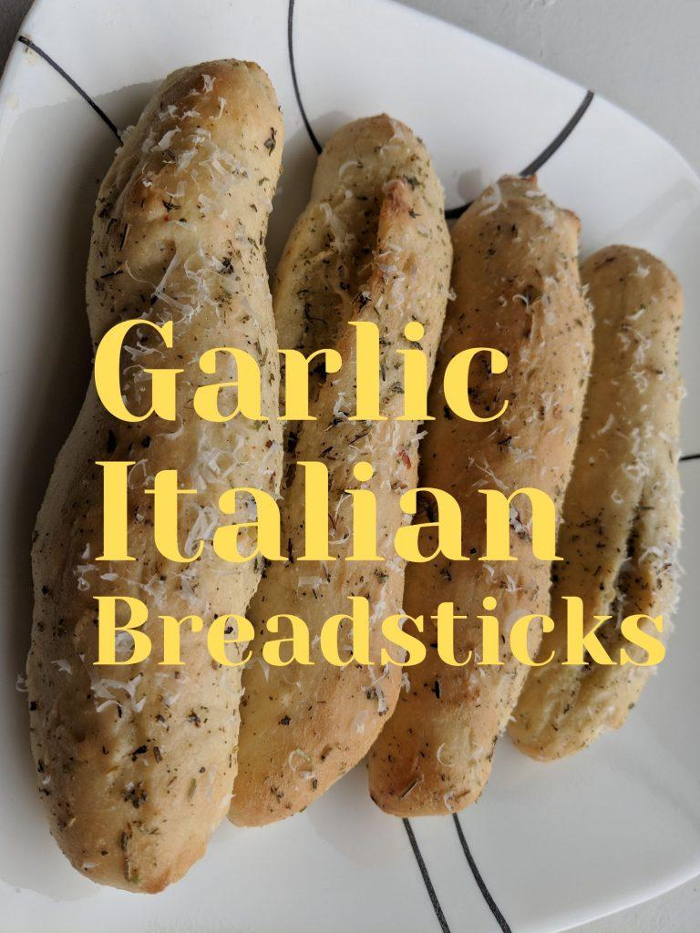 Garlic Breadsticks from Scratch