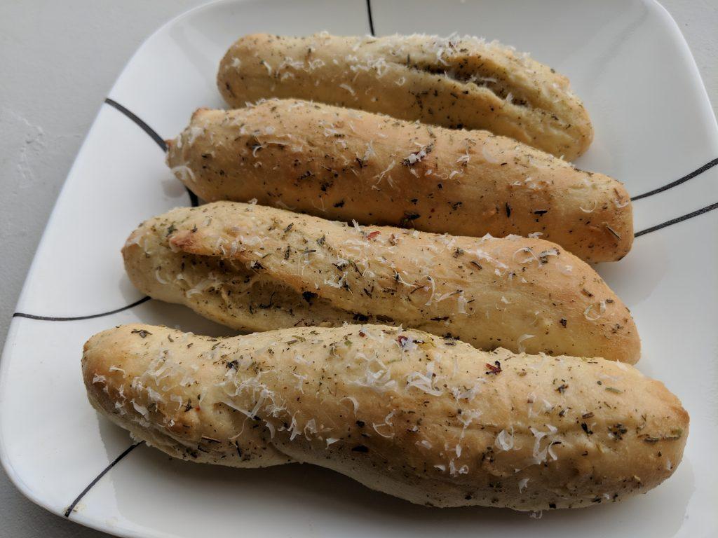 Homemade Garlic Breadsticks