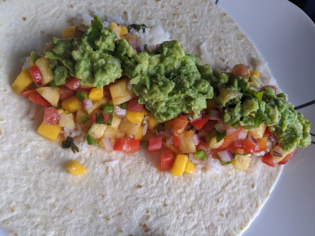 What can you eat watermelon and mango salsa with