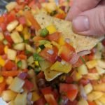 fresh homemade watermelon mango salsa recipe