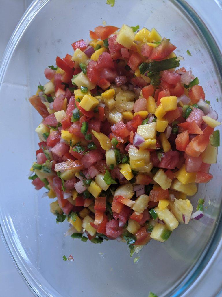 watermelon and pineapple salsa