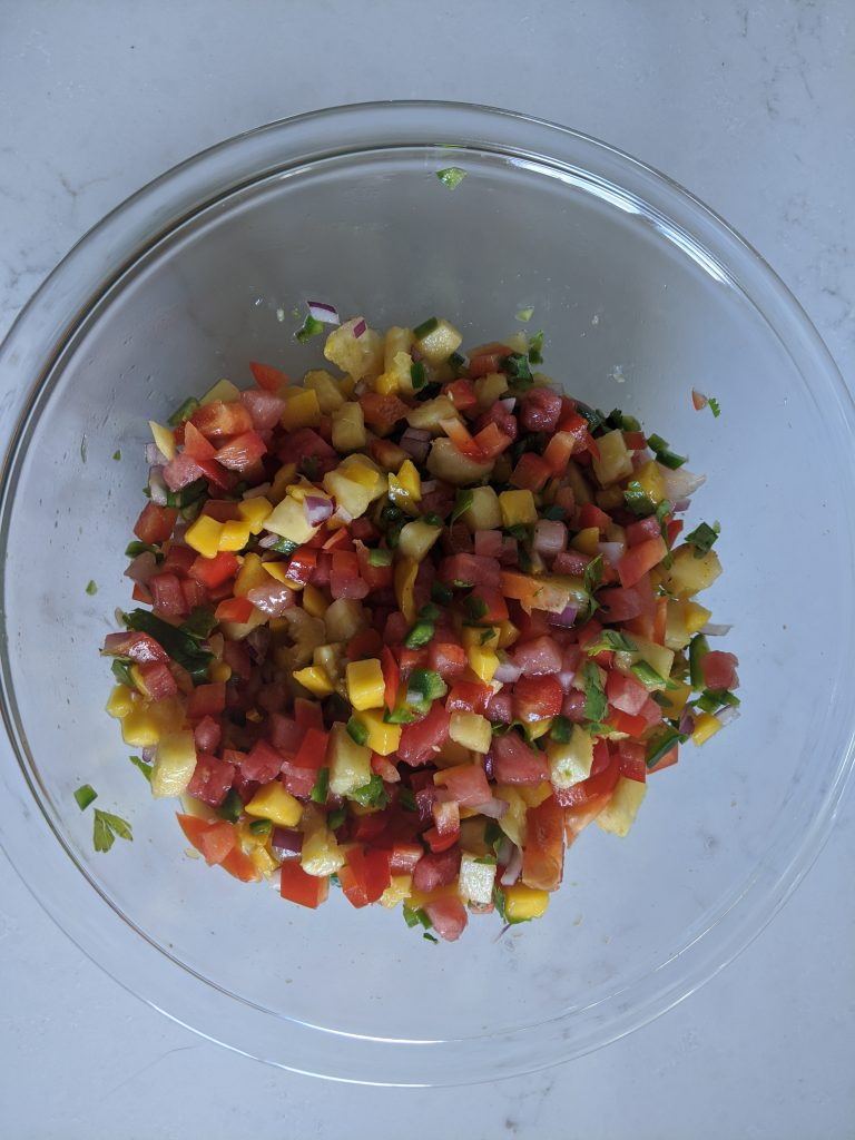How long is fresh watermelon mango salsa good for