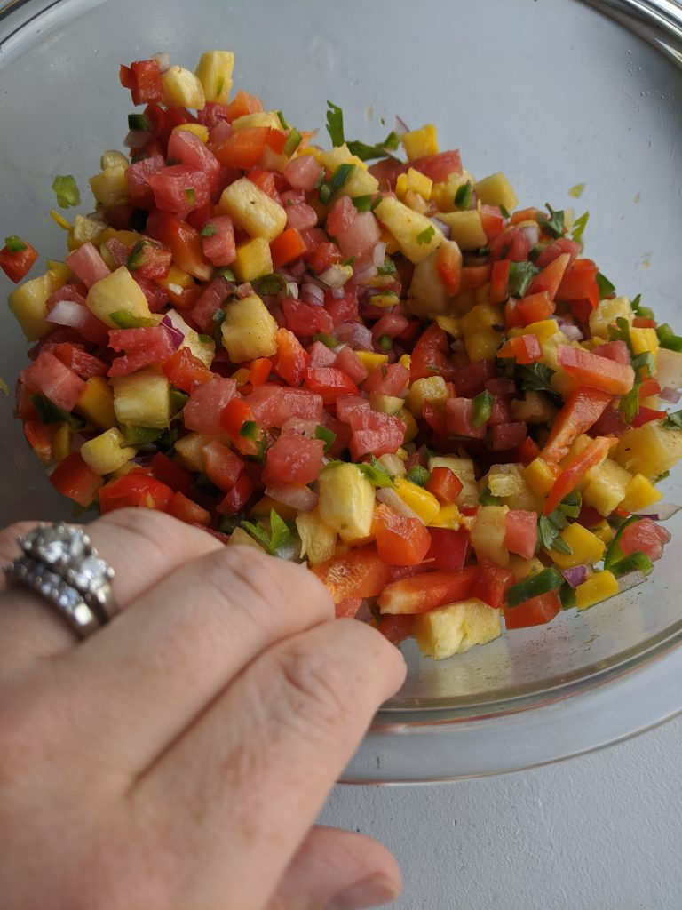 watermelon salsa with pineapple