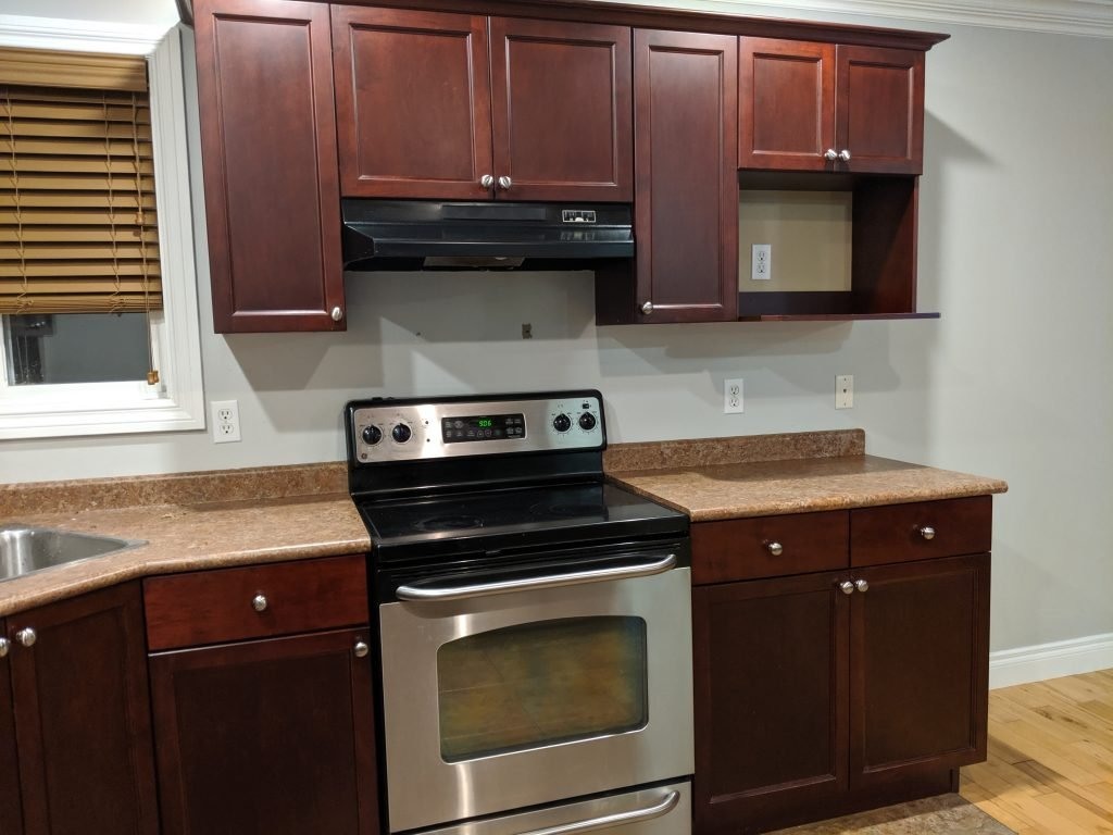 laminate kitchen countertop cherry cabinets