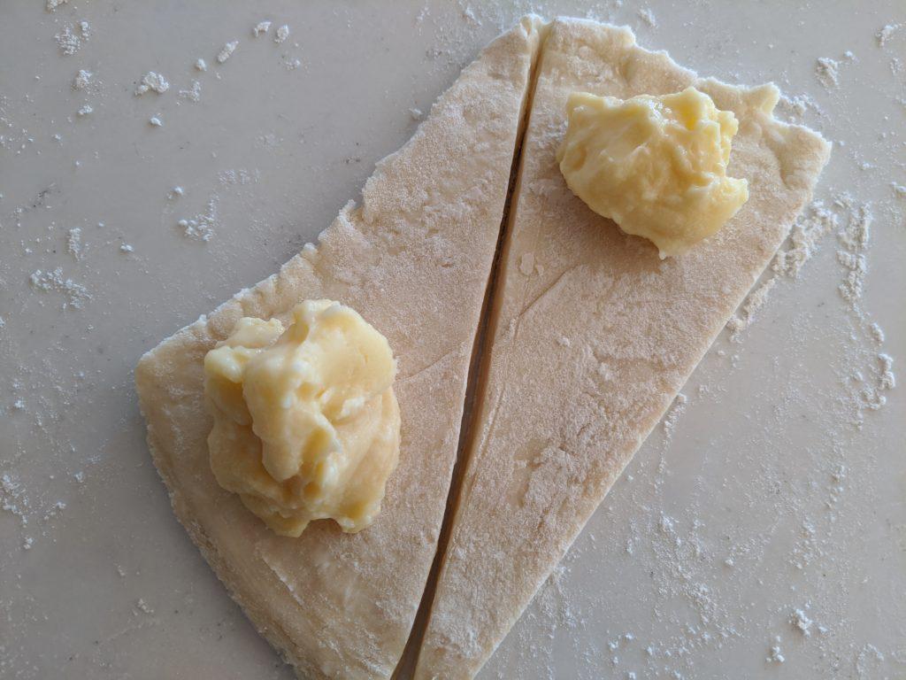 croissant dough with vanilla custard