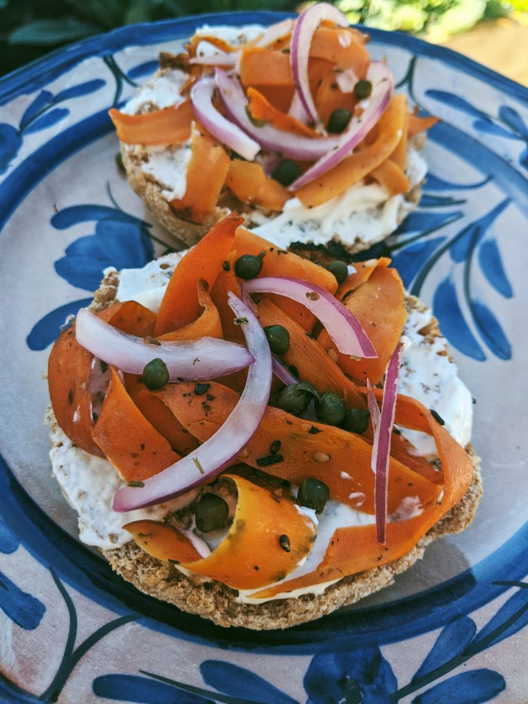 smoked vegan carrot lox recipe