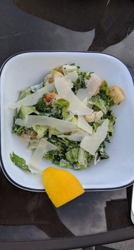What can you serve with croissant sandwiches Caesar salad
