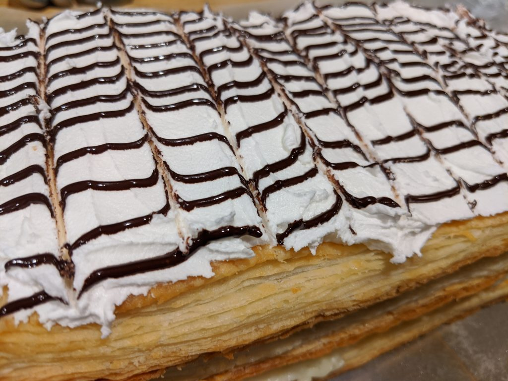 french layered dessert eggless puff pastry recipe ideas