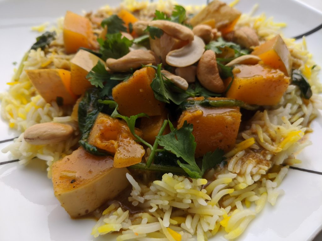 Butternut Squash Curry with Coconut Milk