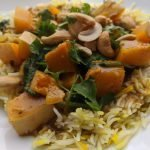 vegetarian butternut squash curry with coconut milk