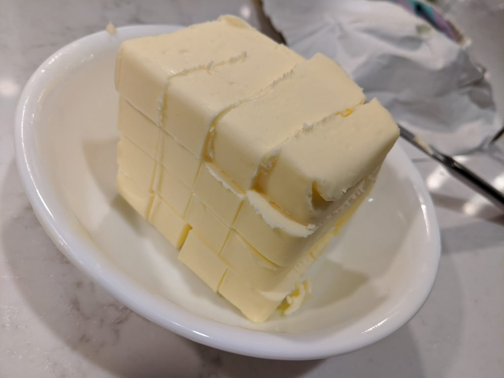 how to cube butter