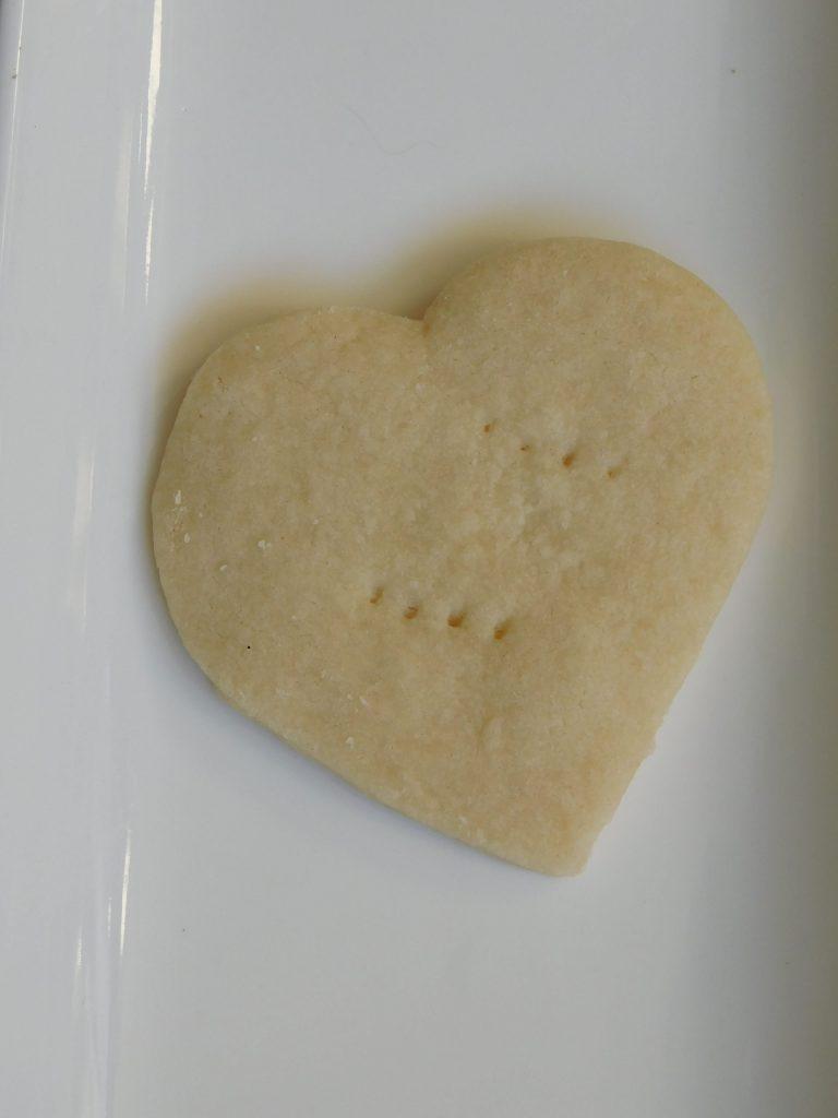 Heart Shaped Shortbread Cookies