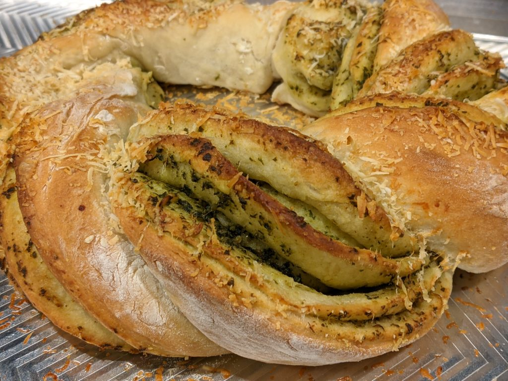 Pesto Bread Appetizer