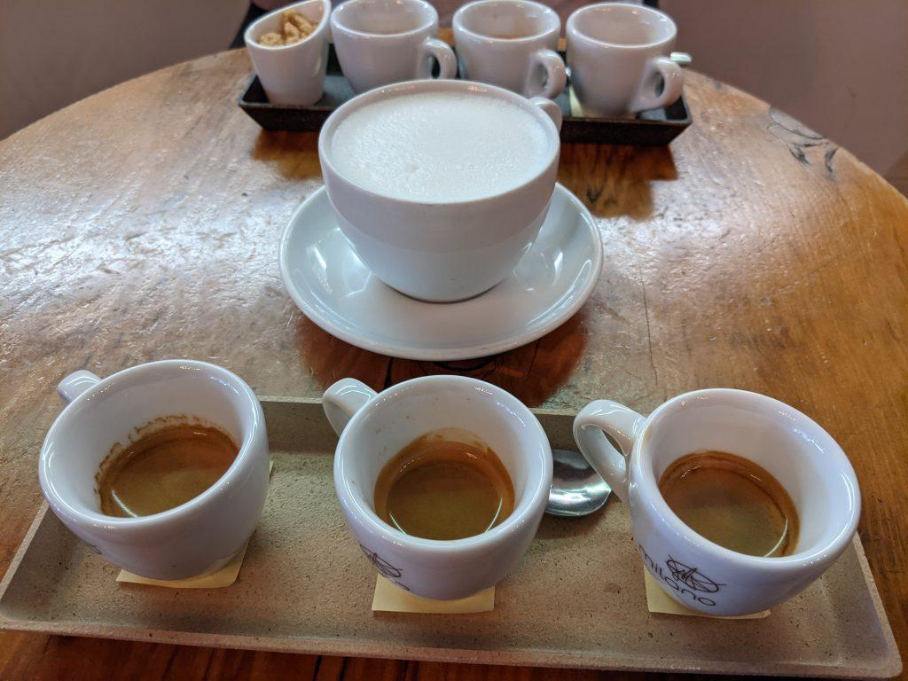 espresso tastings with espresso cups