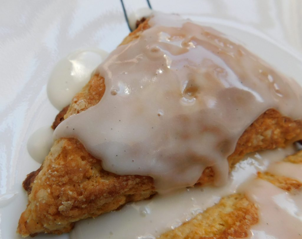 Vanilla scone glaze