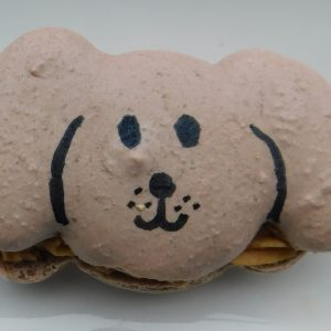 dog shaped macaron template